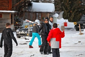 Madonna skiing in Gstaad, Switzerland - 27 December 2011 (2)