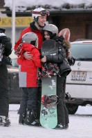 Madonna and family skiing Gstaad - 27 December 2011 and 3 January 2012 (14)
