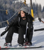 Madonna and family skiing Gstaad - 27 December 2011 and 3 January 2012 (15)