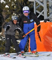 Madonna and family skiing Gstaad - 27 December 2011 and 3 January 2012 (17)