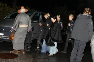 Madonna visits the Grand Chalet in Rossiniere - 2 January 2012 (6)