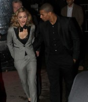 Madonna and Brahim Zaibat leaving the Boom Boom Room, New York - 24 January 2012 (3)
