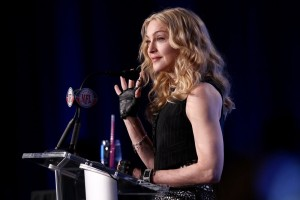 Madonna at the Super Bowl press conference - 2 February 2012 (10)