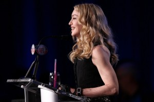 Madonna at the Super Bowl press conference - 2 February 2012 (11)