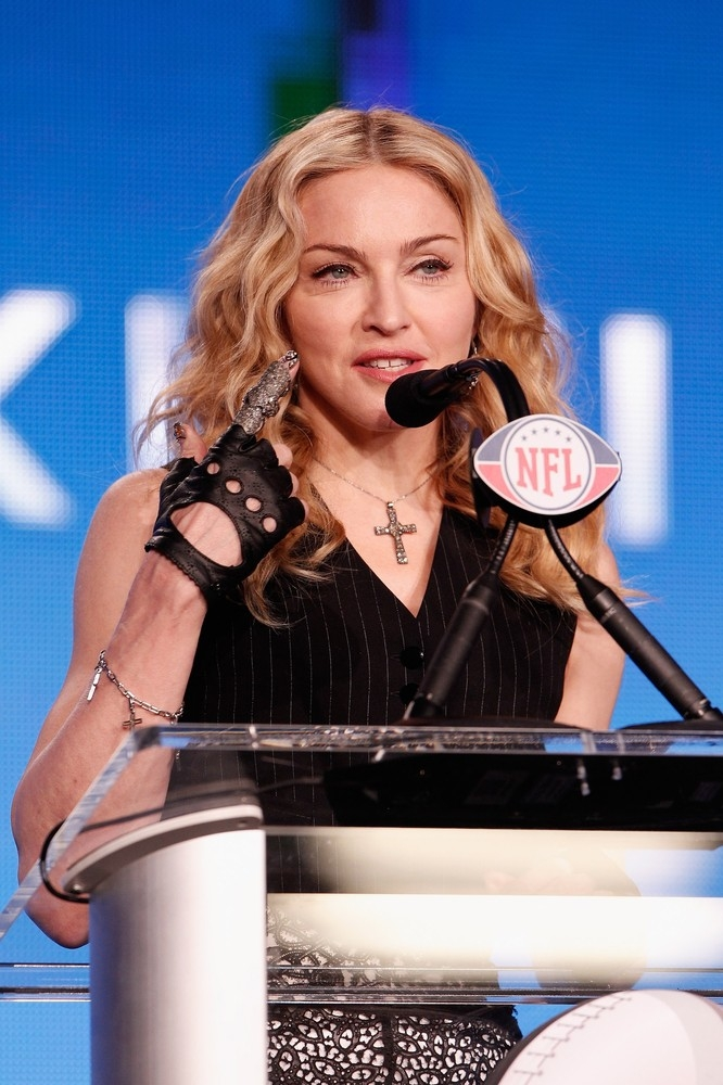 Madonna At The Super Bowl Press Conference 2 February