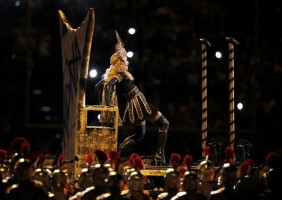 Madonna at the Super Bowl Halftime Show - 5 February 2012 (7)