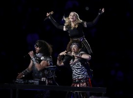 Madonna at the Super Bowl Halftime Show - 5 February 2012 - Update 1 (22)