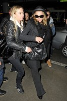 Madonna and Lourdes at JFK airport, 21 February 2012 - Update 3 (42)