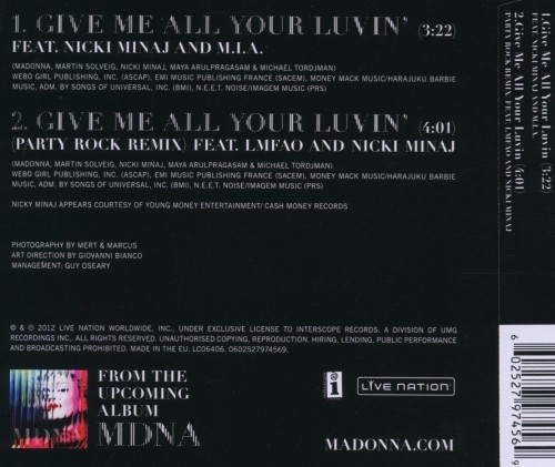 Give me all your Luvin - Front and Back cover in HQ (1)