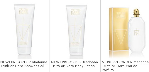 Madonna Truth or Dare Fragrance Collection
