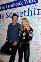 Madonna and Jimmy Fallon at the Facebook Wall in New York (3)