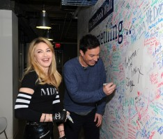 Madonna and Jimmy Fallon at the Facebook Wall in New York (10)