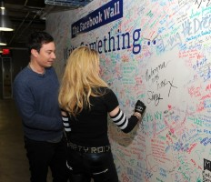 Madonna and Jimmy Fallon at the Facebook Wall in New York (11)