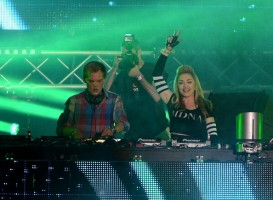 Madonna and Avicii at the Ultra Music Festival in Miami - 24 March 2012 (17)