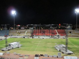 Madonna MDNA Tour Spoilers - Stage under construction in Tel Aviv, Ramat Gan Stadium (1)