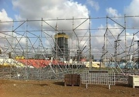 Madonna MDNA Tour Spoilers - Stage under construction in Tel Aviv, Ramat Gan Stadium (2)