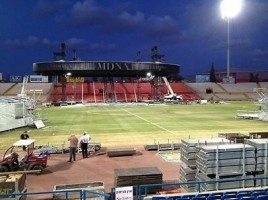 Madonna MDNA Tour Spoilers - Stage under construction in Tel Aviv, Ramat Gan Stadium (4)