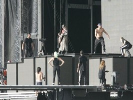 MDNA Tour Rehearsals - Ramat Gan Stadium Tel Aviv [26 May 2012] (4)