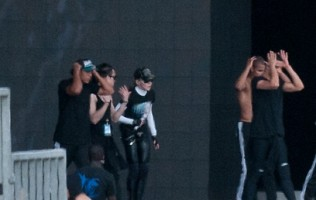 MDNA Tour Rehearsals - Ramat Gan Stadium Tel Aviv [27 May 2012] (2)