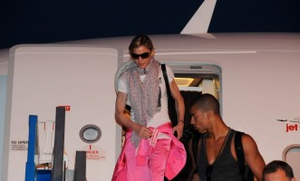 Madonna lands in Istanbul, Ataturk airport - 5 June 2012 (1)
