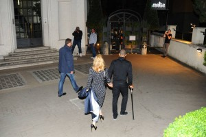 Madonna and Brahim Zaibat at the Molto restaurant - 10 June 2012 (5)