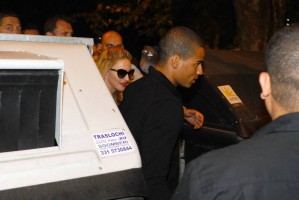 Madonna and Brahim Zaibat at the Molto restaurant - 10 June 2012 (10)