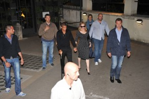 Madonna and Brahim Zaibat at the Molto restaurant - 10 June 2012 (16)