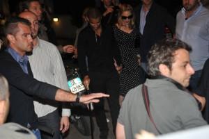 Madonna and Brahim Zaibat at the Molto restaurant - 10 June 2012 (19)