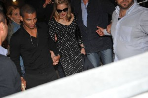 Madonna and Brahim Zaibat at the Molto restaurant - 10 June 2012 (21)
