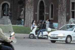 Madonna riding a Vespa in Rome - 13 June 2012 (1)