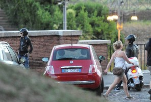 Madonna riding a Vespa in Rome - 13 June 2012 (2)