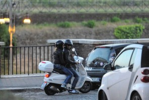 Madonna riding a Vespa in Rome - 13 June 2012 (4)
