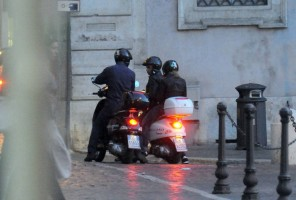 Madonna riding a Vespa in Rome - 13 June 2012 (5)