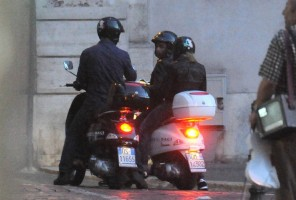 Madonna riding a Vespa in Rome - 13 June 2012 (6)