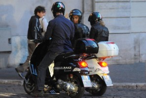Madonna riding a Vespa in Rome - 13 June 2012 (8)
