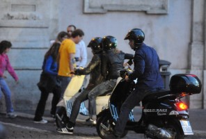 Madonna riding a Vespa in Rome - 13 June 2012 (10)