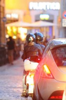 Madonna riding a Vespa in Rome - 13 June 2012 (12)
