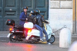 Madonna riding a Vespa in Rome - 13 June 2012 (13)