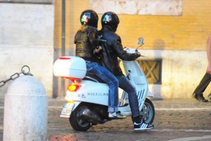 Madonna riding a Vespa in Rome - 13 June 2012 (16)