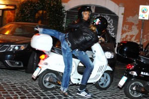 Madonna riding a Vespa in Rome - 13 June 2012 (17)