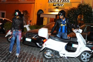 Madonna riding a Vespa in Rome - 13 June 2012 (19)