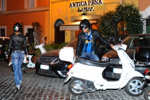 Madonna riding a Vespa in Rome - 13 June 2012 (20)