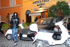 Madonna riding a Vespa in Rome - 13 June 2012 (21)