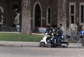 Madonna riding a Vespa in Rome - 13 June 2012 (30)