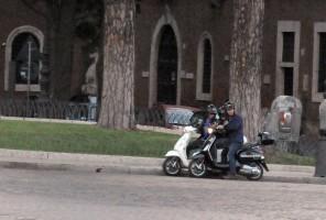 Madonna riding a Vespa in Rome - 13 June 2012 (32)