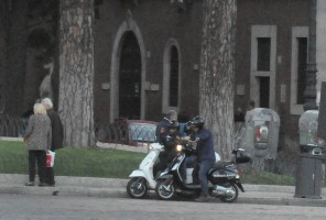 Madonna riding a Vespa in Rome - 13 June 2012 (33)
