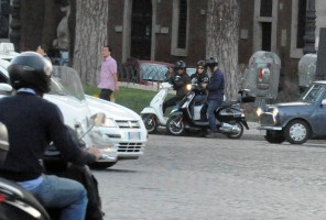 Madonna riding a Vespa in Rome - 13 June 2012 (37)