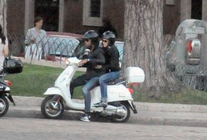 Madonna riding a Vespa in Rome - 13 June 2012 (38)
