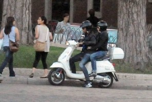 Madonna riding a Vespa in Rome - 13 June 2012 (39)