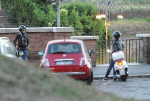 Madonna riding a Vespa in Rome - 13 June 2012 (45)